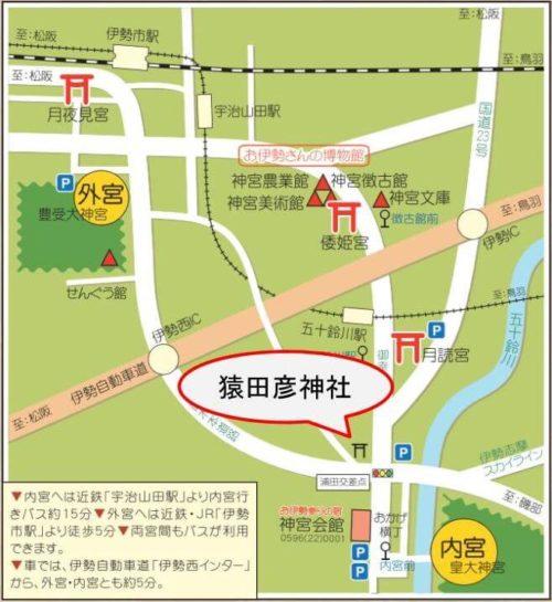 猿田彦神社の位置