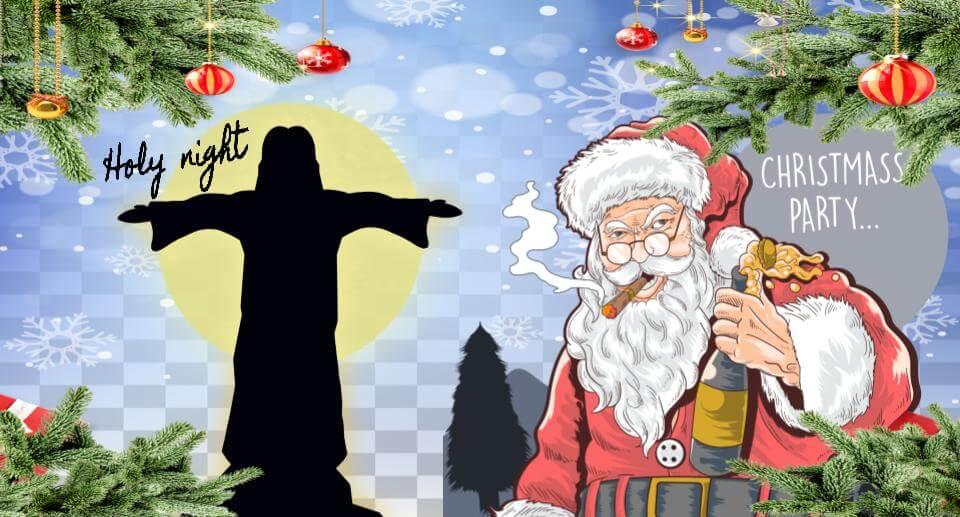サンタクロースとキリスト クリスマス