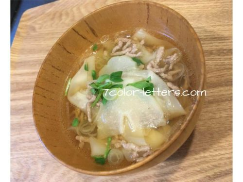 ハヤトウリの中華スープ