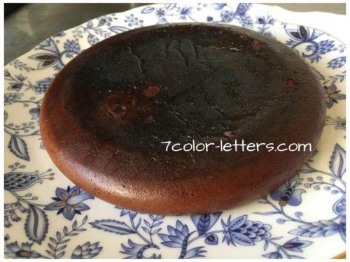 炊飯器でガトーショコラ 焼き上がり