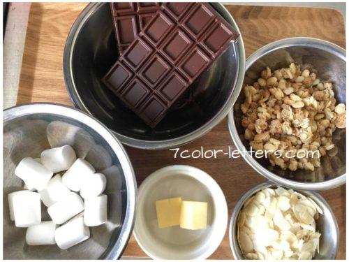 チョコクランチ材料