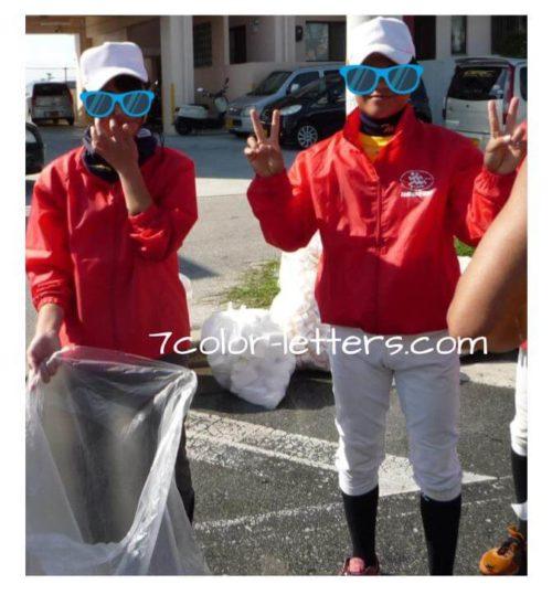 フルマラソン 笑顔の応援団学生