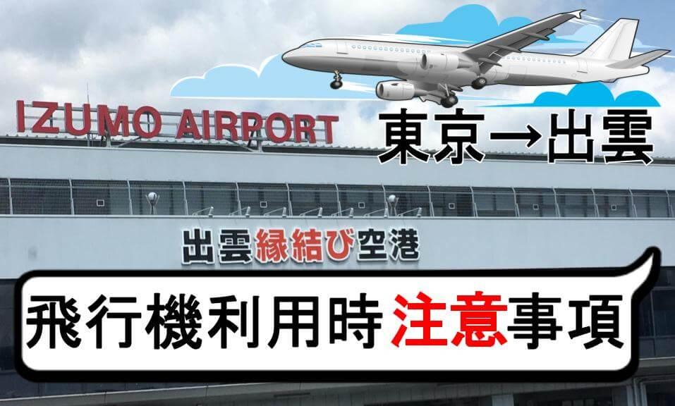 東京から出雲へ 飛行機利用時注意事項