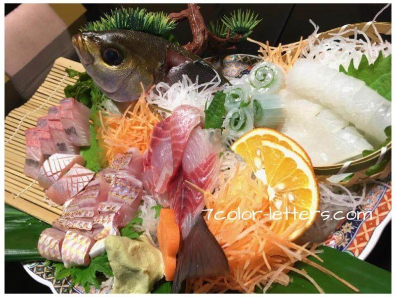 島根グルメ 海鮮 刺身の盛り合わせ