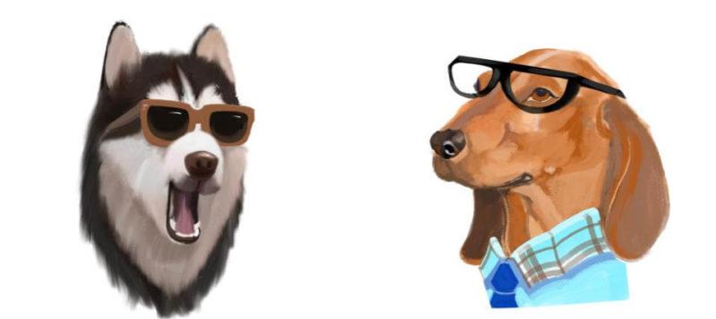 サングラス メガネの犬